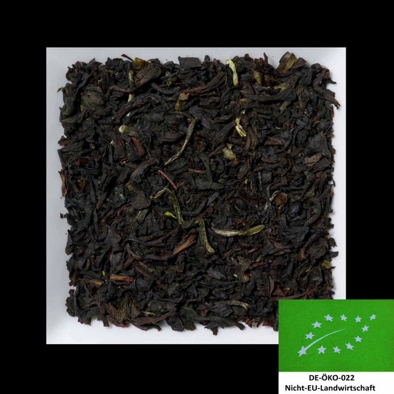 Earl Grey Leaf aromatisierter schwarzer Biotee DE-ÖKO-022