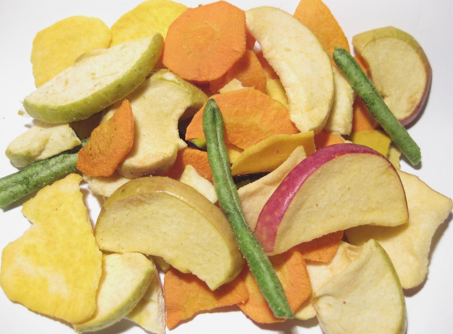 Gemüse Früchte Chips
