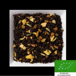 Ingwer-Kardamon-Gewürze-Bio-Chai DE-ÖKO-022 aromatisierte Schwarztee-/Gewürzmischung