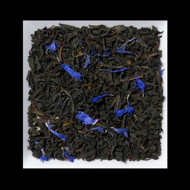 English Earl Grey Bergamotte-Kornblumenblüten Aromatisierter schwarzer Tee
