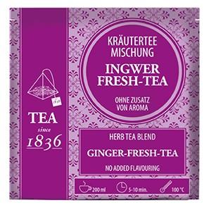 Kräuterteemischung Ingwer-Fresh-Tee ohne Zusatz von Aroma FS mit 15 Pyramidenbeuteln