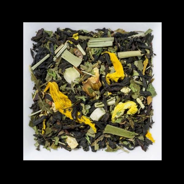 Minze-Limette aromatisierte Schwarztee-Kräutermischung