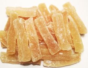 Ingwer Stäbchen ungeschwefelt, leicht gezuckert mild