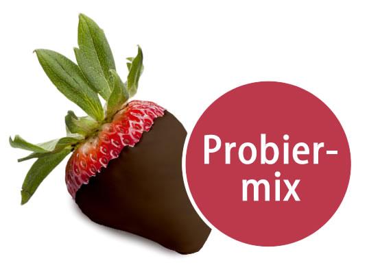 5 Früchte in Zartbitter-Schokolade Probiermix