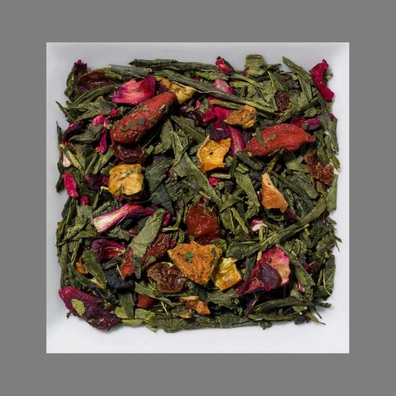 Goji-Açai Aromatisierte Grüntee-/Früchtemischung