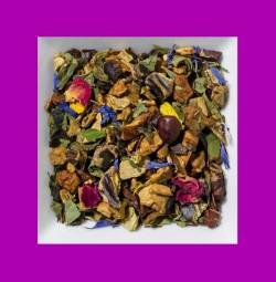 Vanille-Schokolade-Hanf aromatisierte Früchte-/Gewürzteemischung