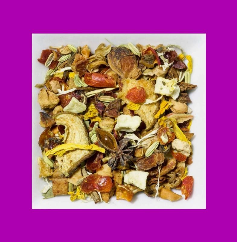 Birne-Sternanis. Natürlich aromatisierte Früchte-/Gewürzteemischung