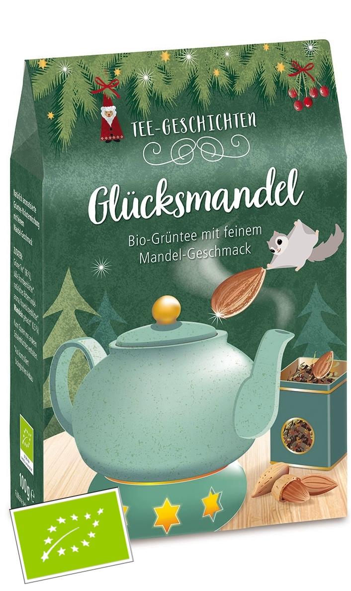 Glücksmandel aromatisierte Grüner Biotee DE-ÖKO 006