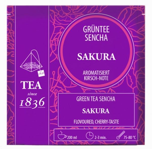 Grüntee Sencha Sakura Kirsch-Note aromatisiert