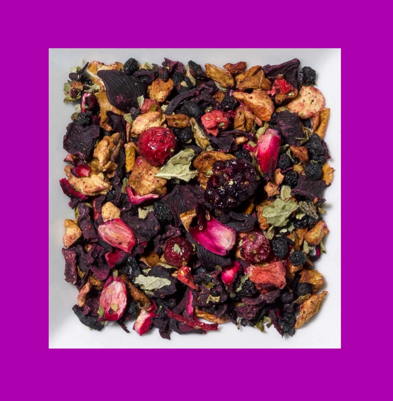 Rhabarber-Erdbeere-Rote Johannisbeere Aromatisierte Früchteteemischung
