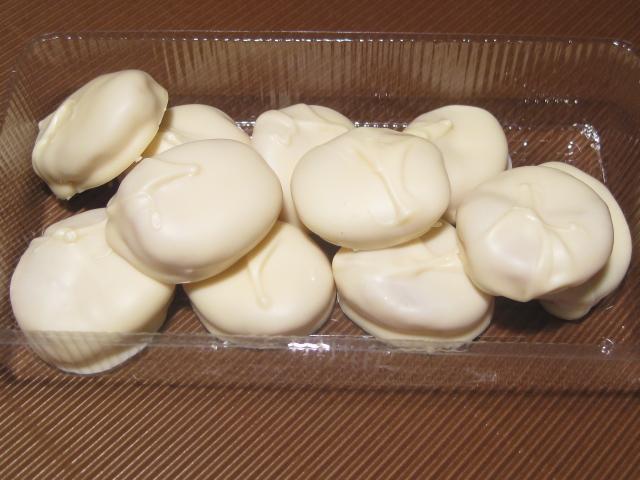 Aprikosen in weißer Schokolade