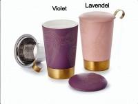 "Teetasse ""Precious"" Porzellan Lavendel 0,35l"
