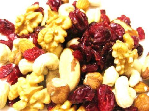 Edelnusskernmischung mit Cranberries