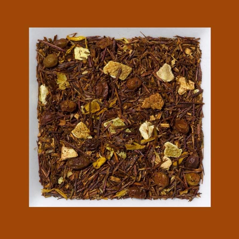 Rooibusch Sanddorn/Orange Aromatisierte Rooibusch-Tee-/Früchtemischung