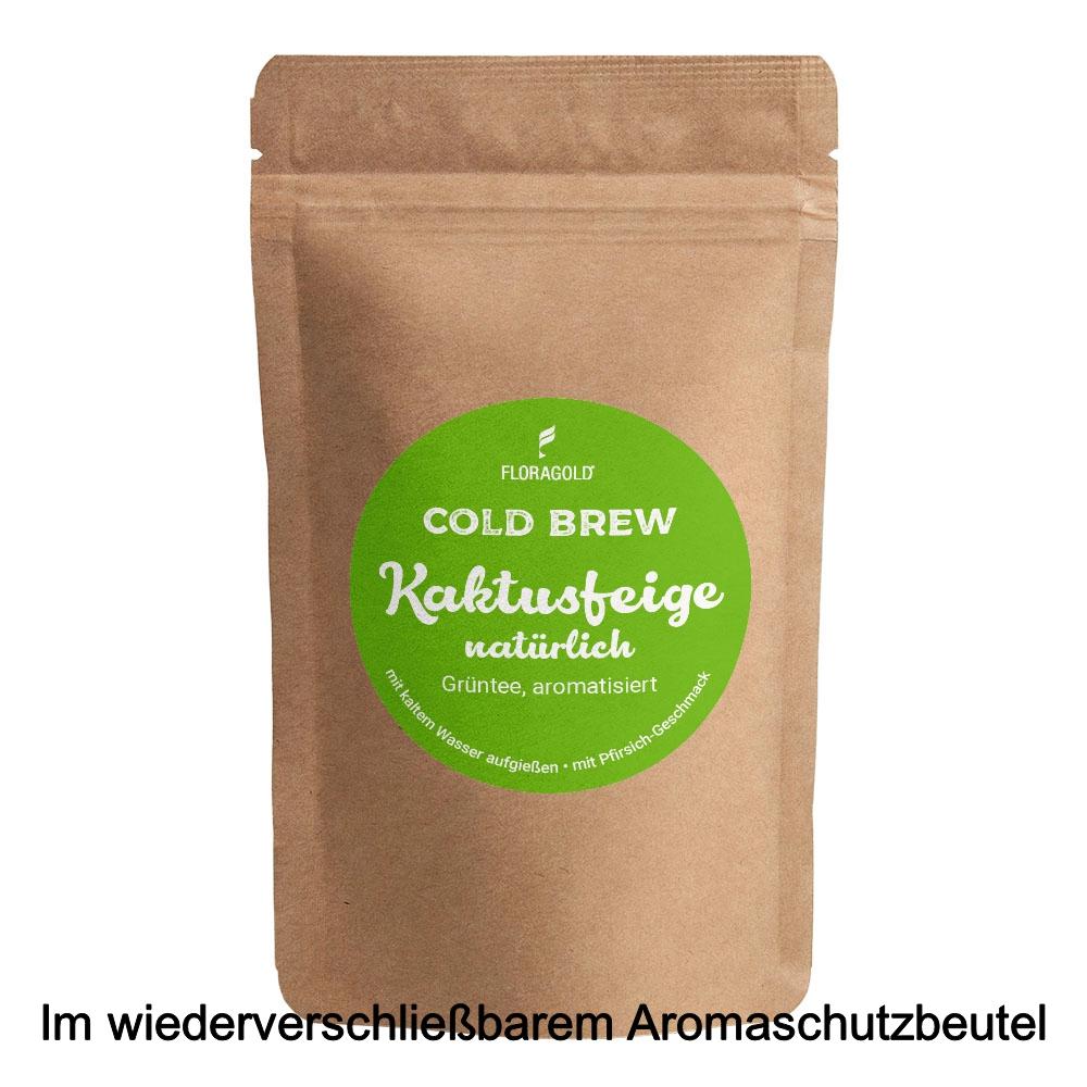 Cold Brew Kaktusfeige Grüntee natürlich aromatisiert