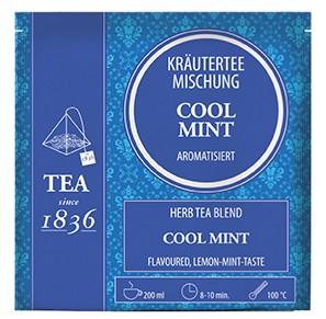 Cool-Mint Kräuterteemischung aromatisiert mit 15 Pyramidenbeuteln