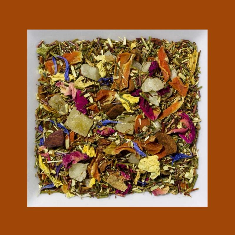 Rooibusch Mangostane-Kombucha Aromatisierte grüne Rooibusch-Tee-/Früchtemischung
