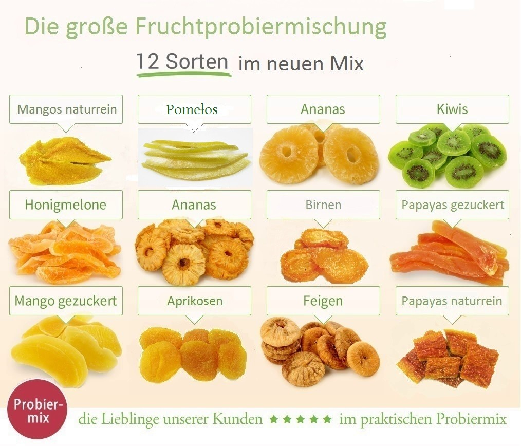 Probiermix trockenfrüchte