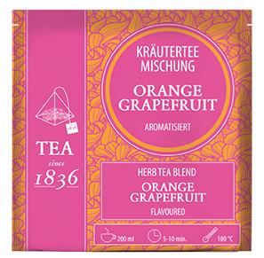 Kräuterteemischung Orange/ Grapefruit aromatisiert FS mit 15 Pyramidenbeuteln à 3,5 g
