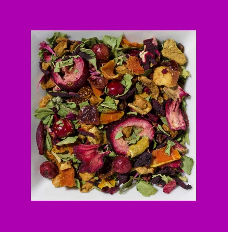 Sanddorn-Preiselbeere aromatisierte Früchteteemischung