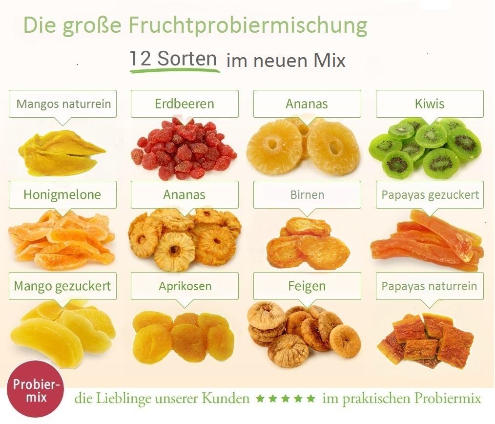 Trockenfrucht Probiermix 1200 Gramm