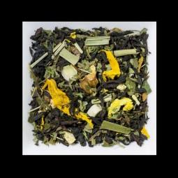 Minze-Limette aromatisierte Schwarztee-/Kräutermischung