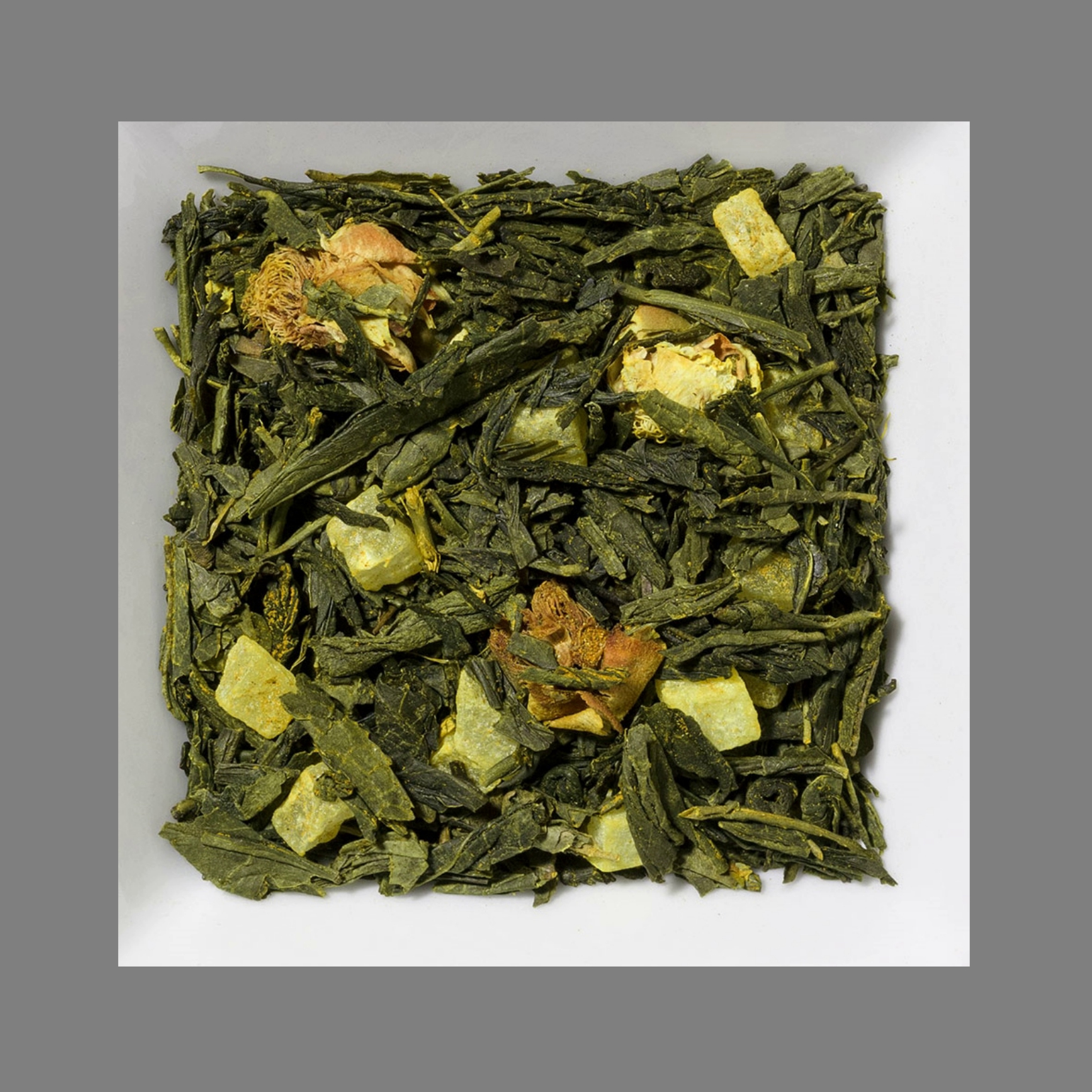 Kurkuma/Ananas aromatisierte Grüntee-/Früchtemischung
