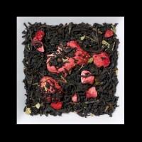 Erdbeer-Sahne Aromatisierter schwarzer Tee