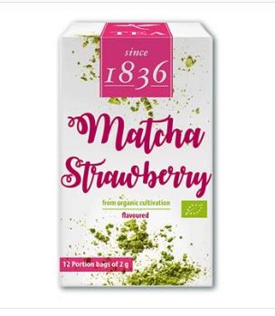 Grüner Pulver-Tee China k.b.A. Matcha Strawberry,