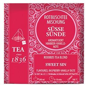 Rotbuschteemischung Süße Sünde Himbeer-Vanille-Note aromatisiert