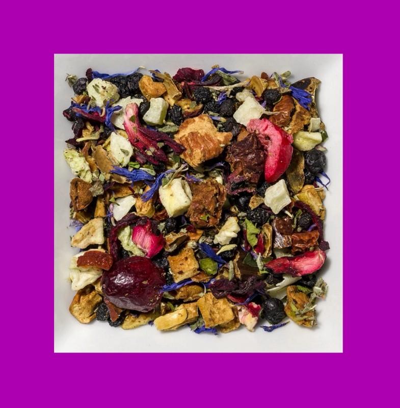 Exotische Früchte-Damiana. Natürlich aromatisierte Früchteteemischung