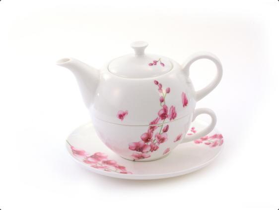 "Tea for one Set ""Mai-Linh"" Bone China, 4 teilig Kanne: 0,45 l, Tasse: 0,25 l"