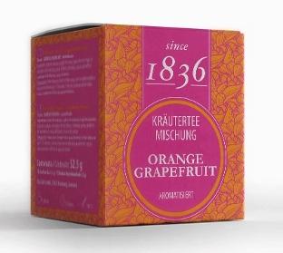 Orange/ Grapefruit Kräuterteemischung aromatisiert mit 15 Pyramidenbeuteln
