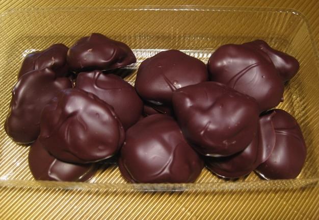 pflaumen in schokolade