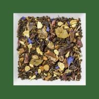 Guarana-Zimt-Kornblumenblüte. Natürlich aromatisierte Gewürz-/Kräuterteemischung