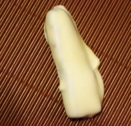 Bananen in weißer Schokolade