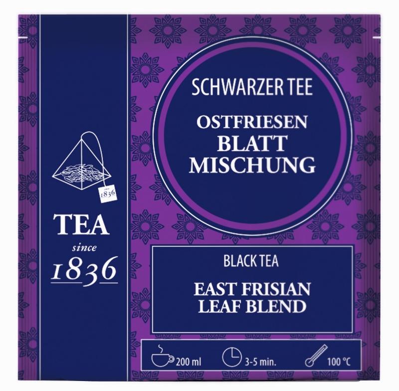 Ostfriesen Blattmischung FS Schwarzer Teemit 15 Pyramidenbeuteln à 3 g