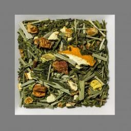 Tropische Früchte/Guarana aromatisierte Grüntee-/Früchtemischung
