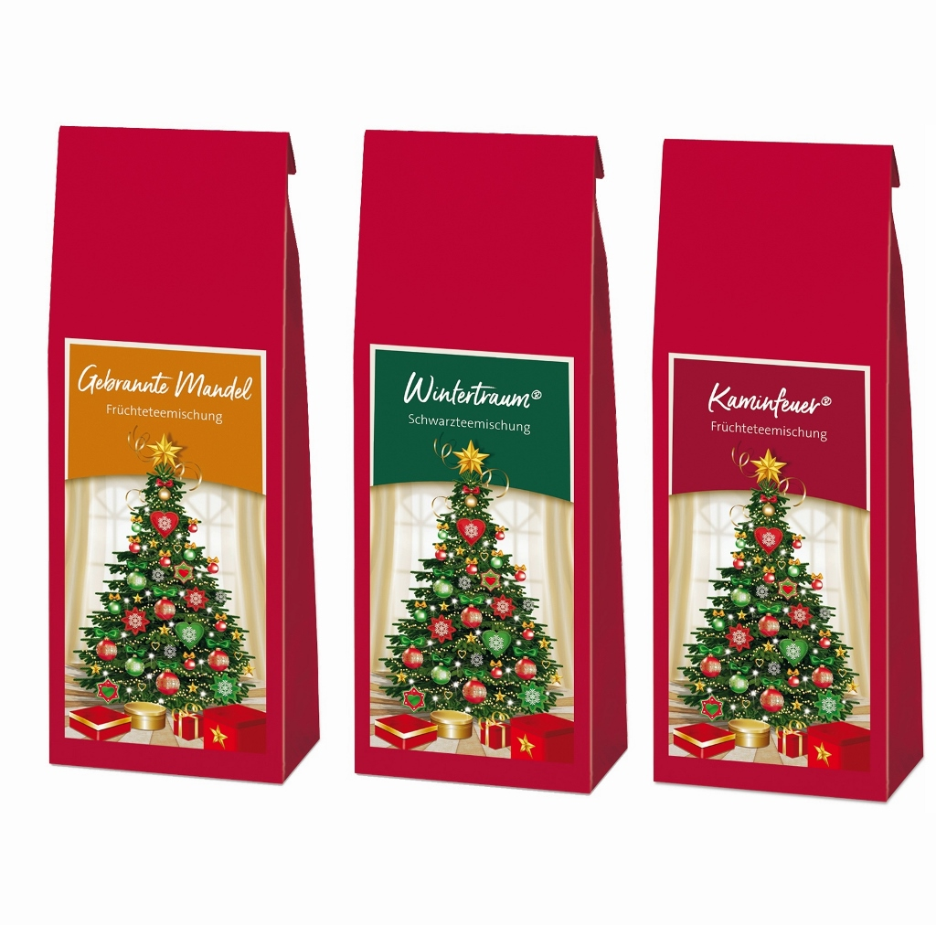 Probiermix Weihnachtstee´s rot 3x100g