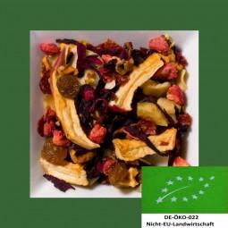 Erdbeer-Sahne Biotee DE-ÖKO-022 aromatisierte Früchteteemischung