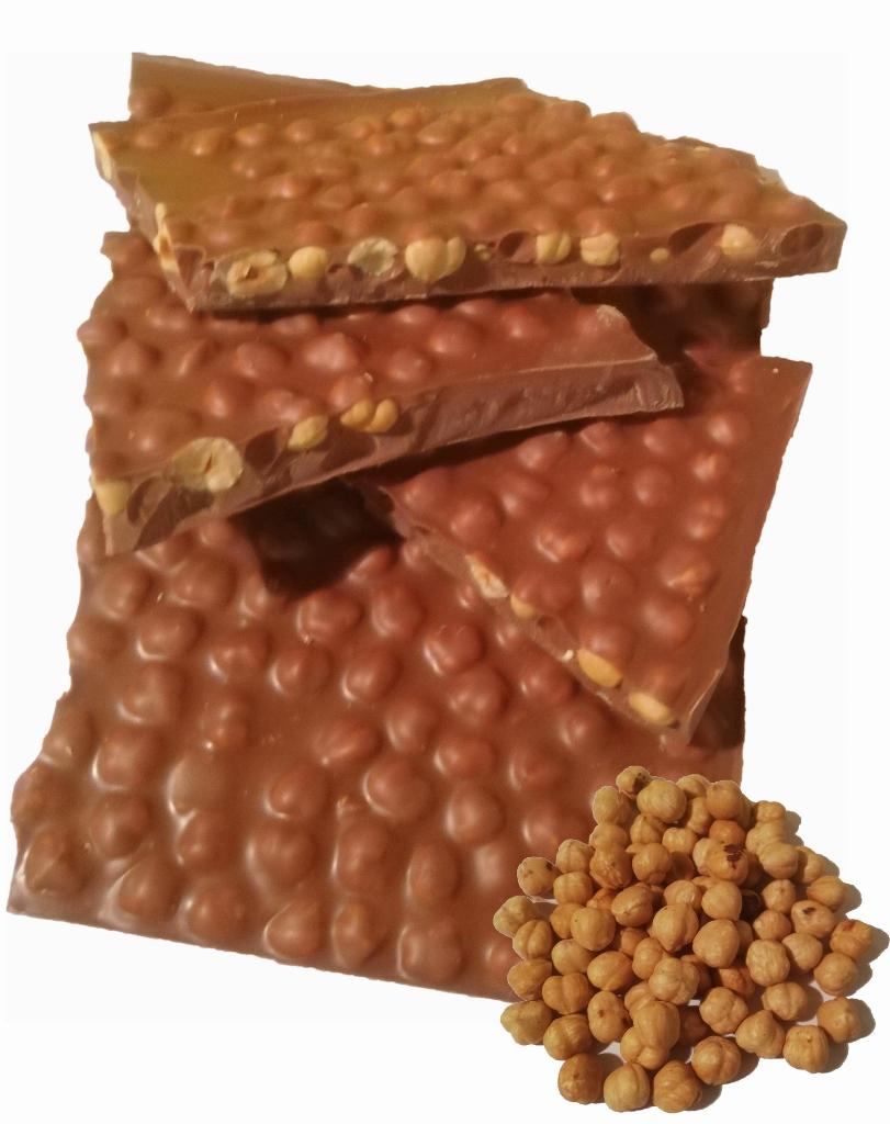 Haselnüsse Blockschokolade