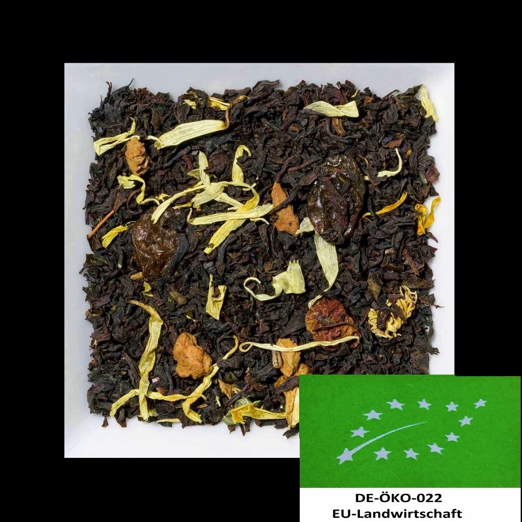 Weinbergpfirsich Biotee DE-ÖKO-022 aromatisierte Schwarztee-/Früchtemischung