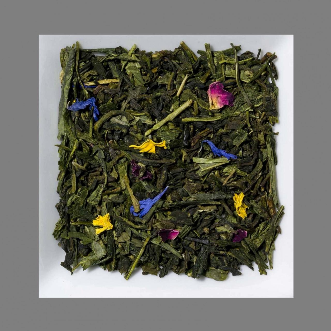 Rhabarber-Mango Aromatisierter grüner Tee