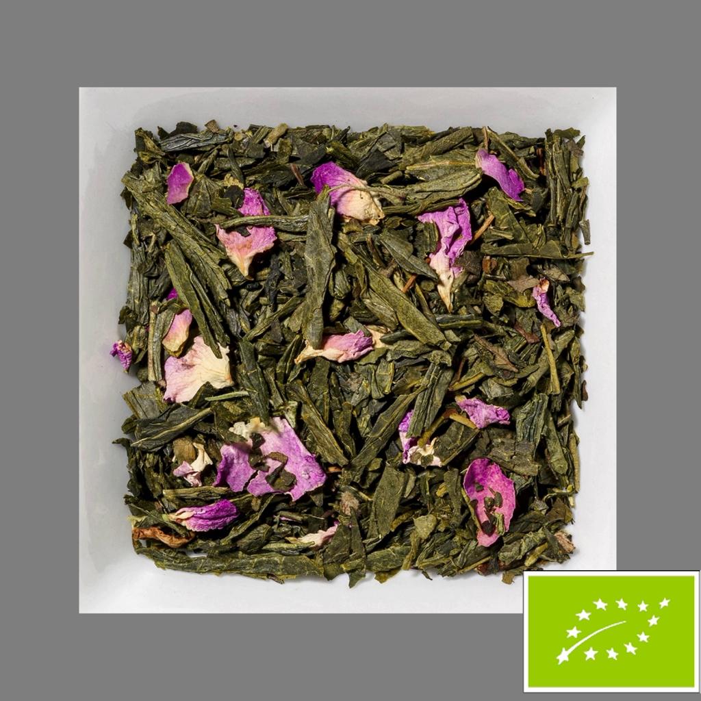 Glücksmandel aromatisierte Grüner Biotee
