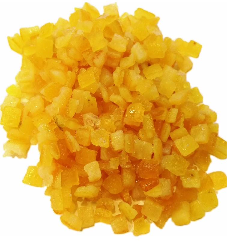 Orangeat gewürfelt