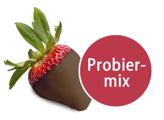 5 Früchte in Vollmilchschokolade Probiermix