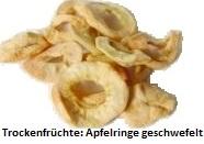Apfelringe - geschwefelt